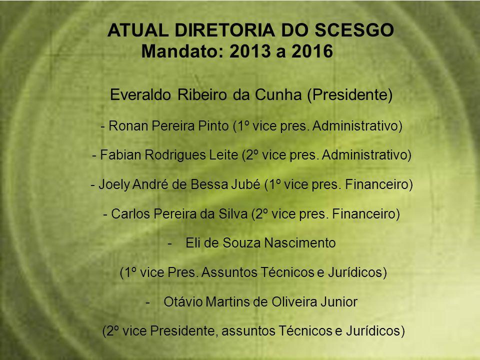Everaldo Ribeiro da Cunha (Presidente) - Ronan Pereira Pinto (1º vice pres. Administrativo) - Fabian Rodrigues Leite (2º vice pres. Administrativo) -