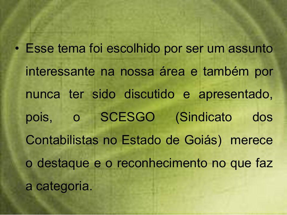 Estudo de caso: será apresentado algumas conquistas que a atual diretoria tem conseguido, será feito a demonstração do Nosso Programa que é um Sistema de Informação que o SCESGO oferece a associados e estudantes de Faculdades do Estado de Goiás.