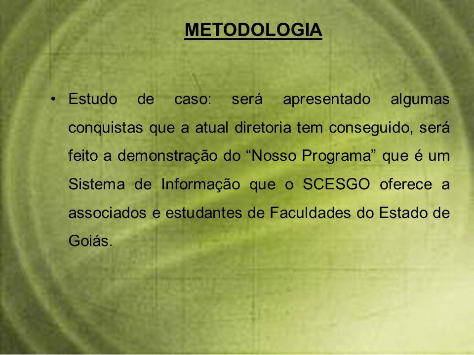 O material de pesquisa que tem sem, da conta de que logo quando tiveram oportunidade, foram para uma sede alugada na avenida Goiás, no Ed.
