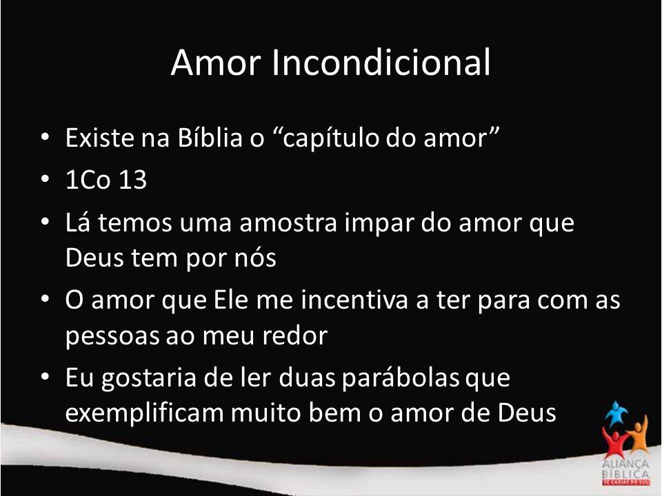 Amor Incondicional Lucas 15: 1-7; 8-10