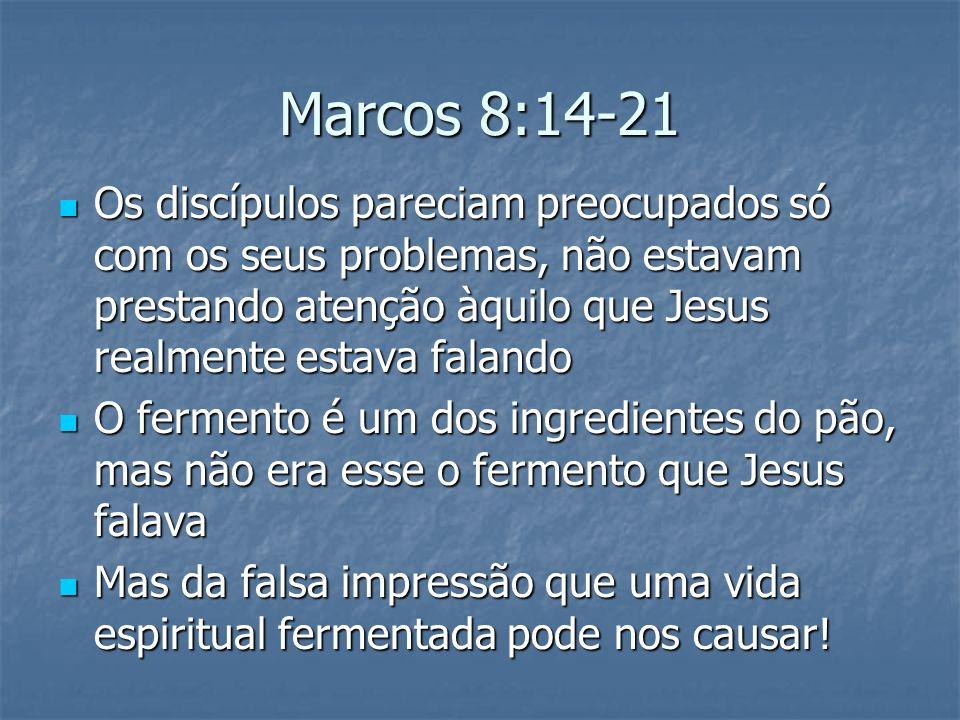 Os discípulos pareciam preocupados só com os seus problemas, não estavam prestando atenção àquilo que Jesus realmente estava falando Os discípulos par