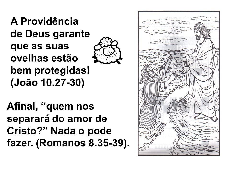 A Providência de Deus garante que as suas ovelhas estão bem protegidas! (João 10.27-30) Afinal, quem nos separará do amor de Cristo? Nada o pode fazer
