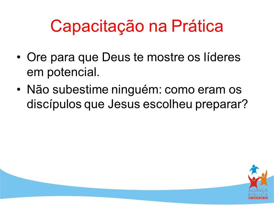 Capacitação na Prática Ore para que Deus te mostre os líderes em potencial. Não subestime ninguém: como eram os discípulos que Jesus escolheu preparar