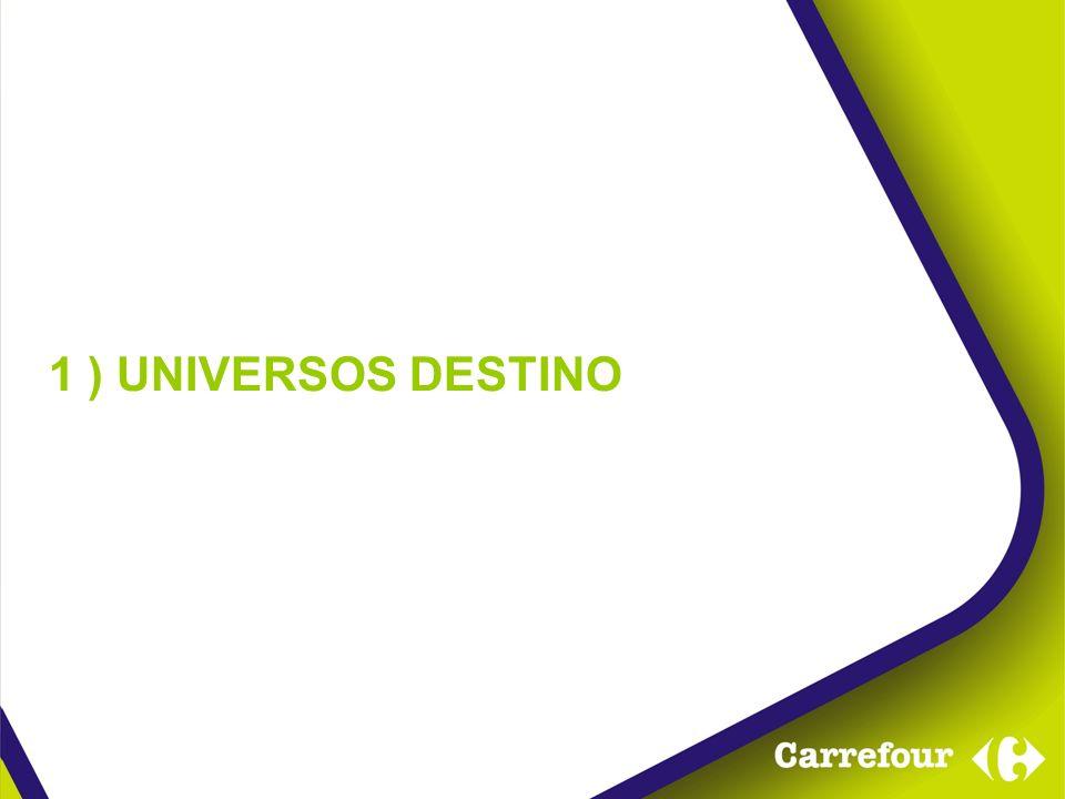 1 ) UNIVERSOS DESTINO