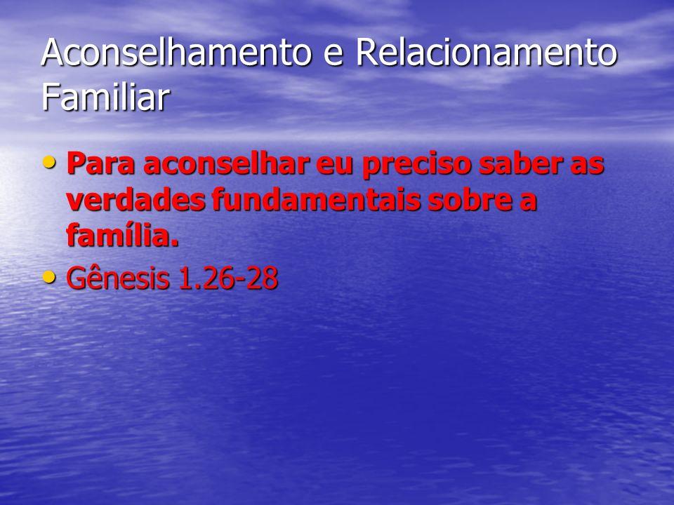 Verdades fundamentais sobre a família A FAMÍLIA É UM PROJETO DE DEUS A FAMÍLIA É UM PROJETO DE DEUS