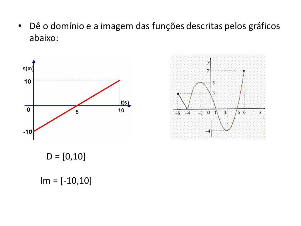 D = [0,10] Im = [-10,10]