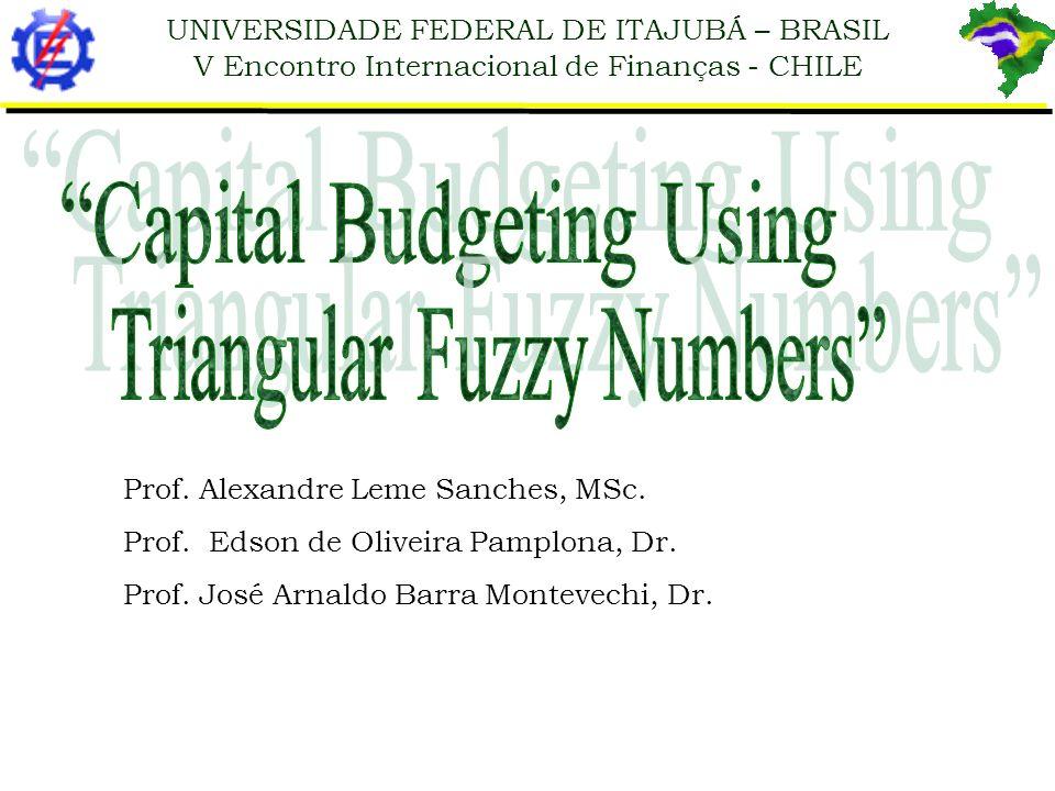 UNIVERSIDADE FEDERAL DE ITAJUBÁ – BRASIL V Encontro Internacional de Finanças - CHILE Prof. Alexandre Leme Sanches, MSc. Prof. Edson de Oliveira Pampl