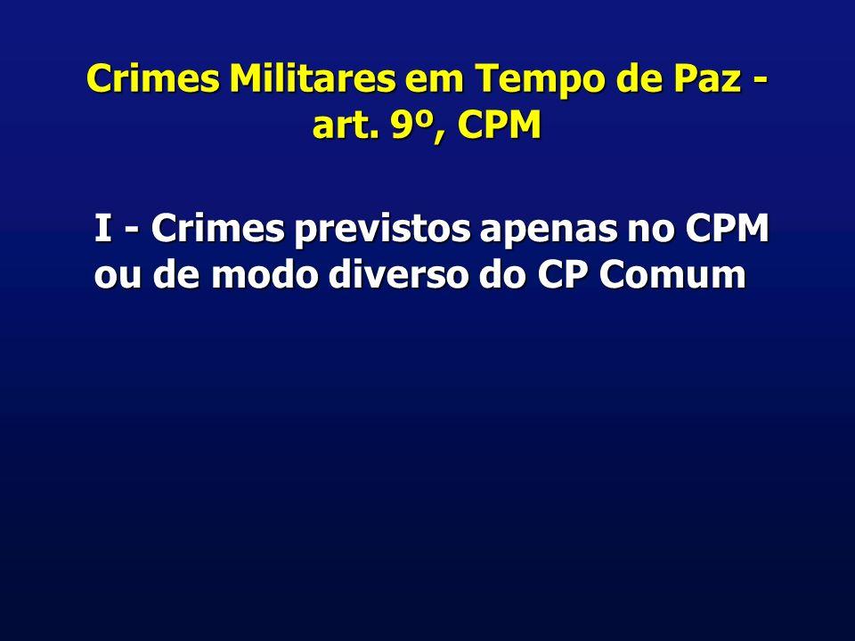 Crimes Militares em Tempo de Paz - art.