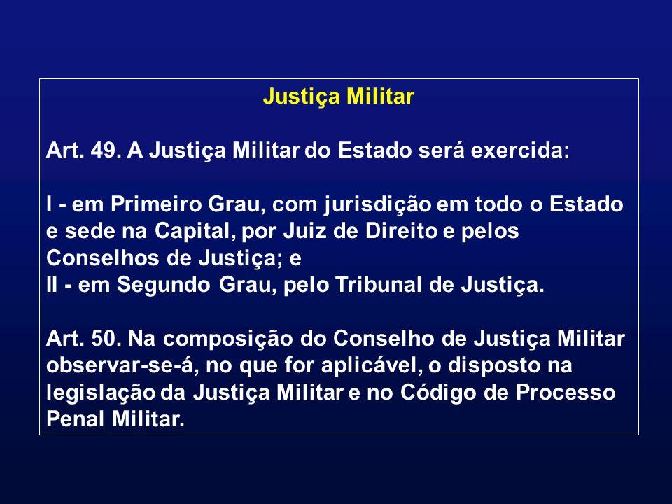 Justiça Militar Art. 49.