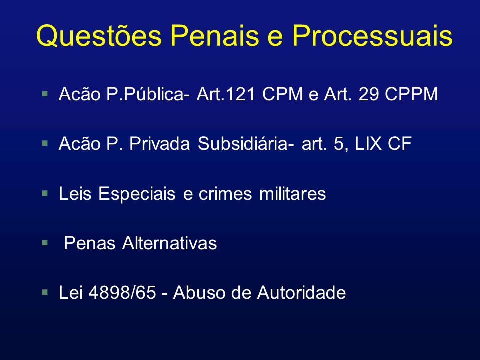 Questões Penais e Processuais Acão P.Pública- Art.121 CPM e Art.