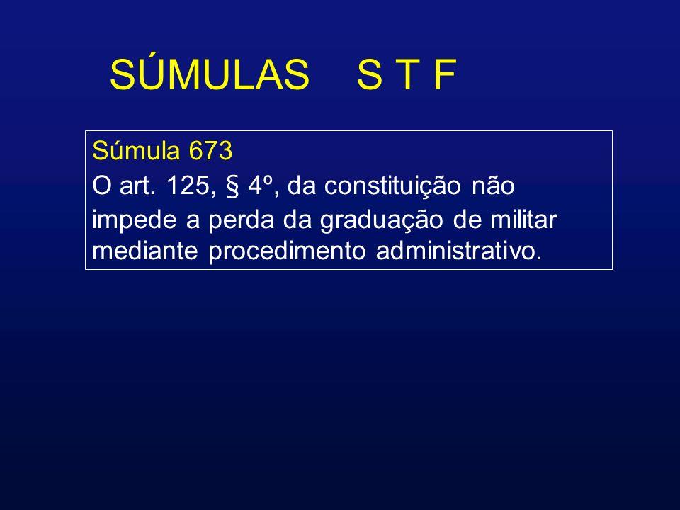 SÚMULAS S T F Súmula 673 O art.