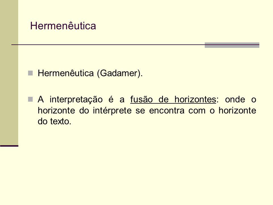 Hermenêutica Hermenêutica (Gadamer).