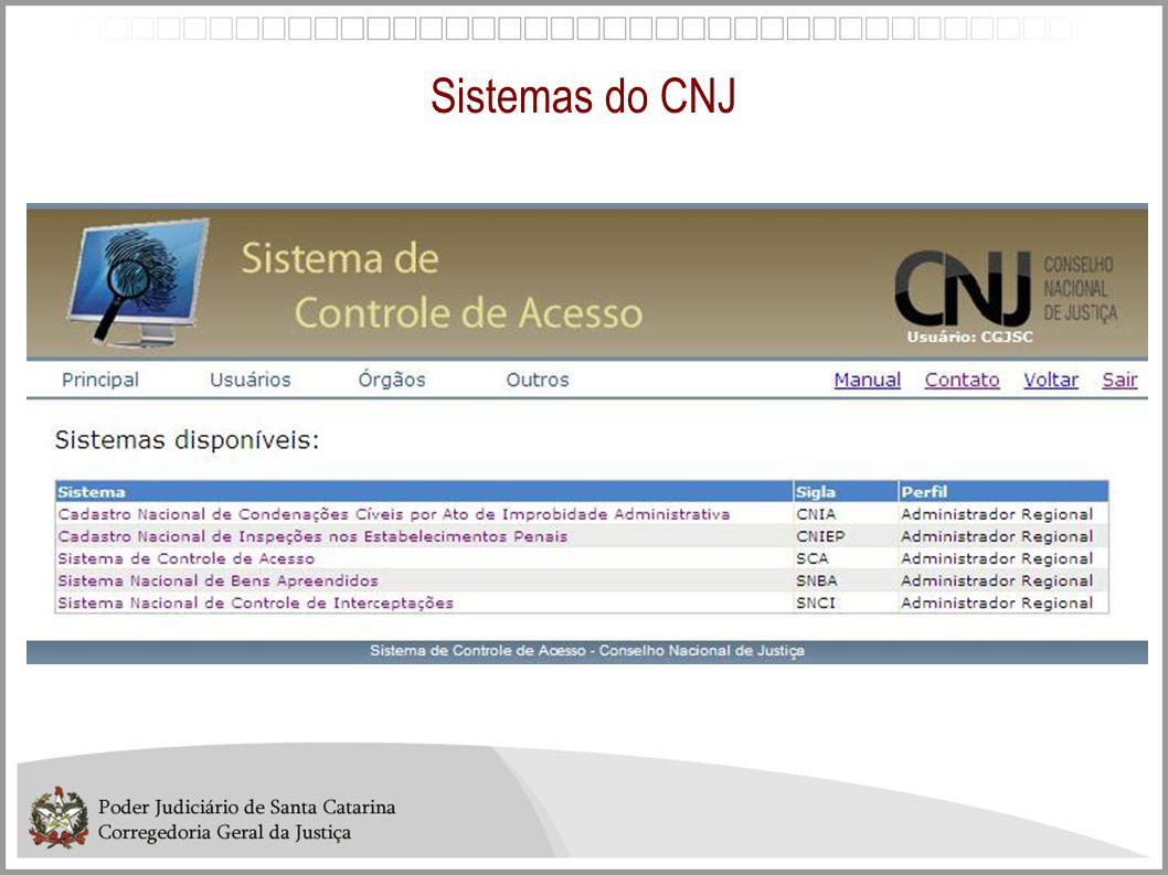 Sistemas do CNJ