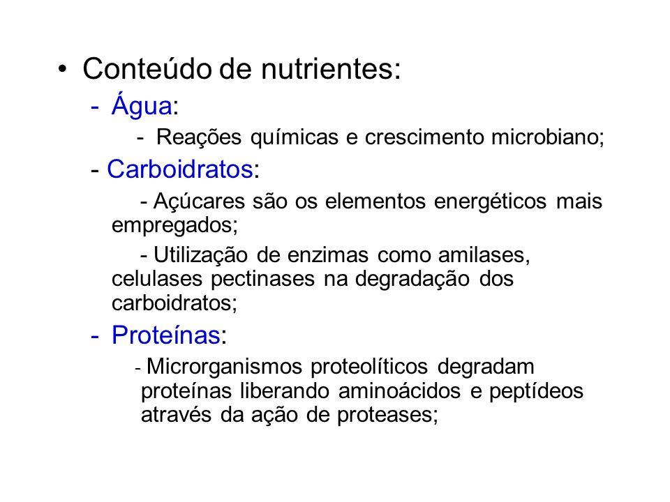 Nutrientes Todos os organismos necessitam de uma variedade de elementos químicos como nutrientes, os quais são necessários para a síntese e funções no