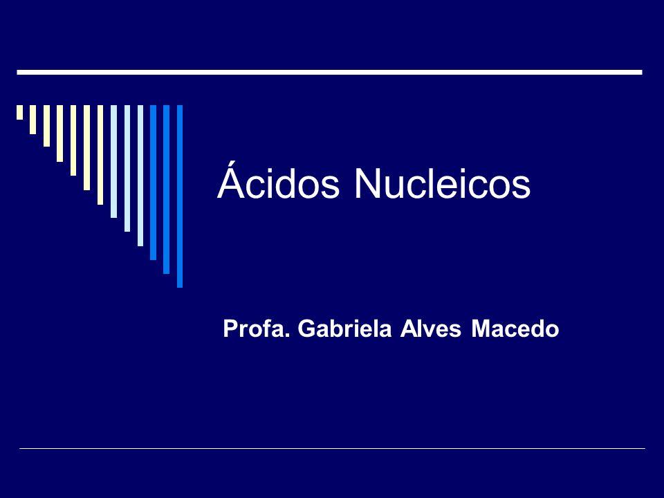 Ácidos Nucleicos Profa. Gabriela Alves Macedo