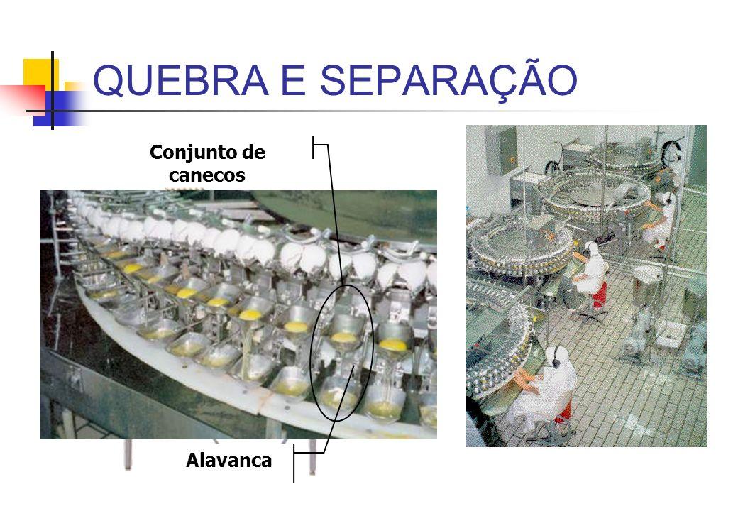 QUEBRA E SEPARAÇÃO Conjunto de canecos Alavanca