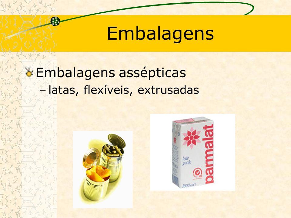 Embalagens Embalagens assépticas –latas, flexíveis, extrusadas
