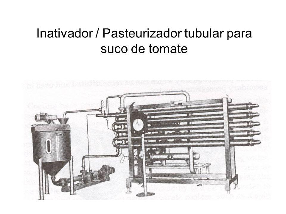 Inativador / Pasteurizador tubular para suco de tomate