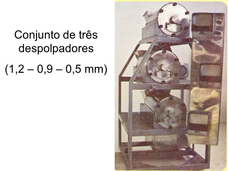 Conjunto de três despolpadores (1,2 – 0,9 – 0,5 mm)