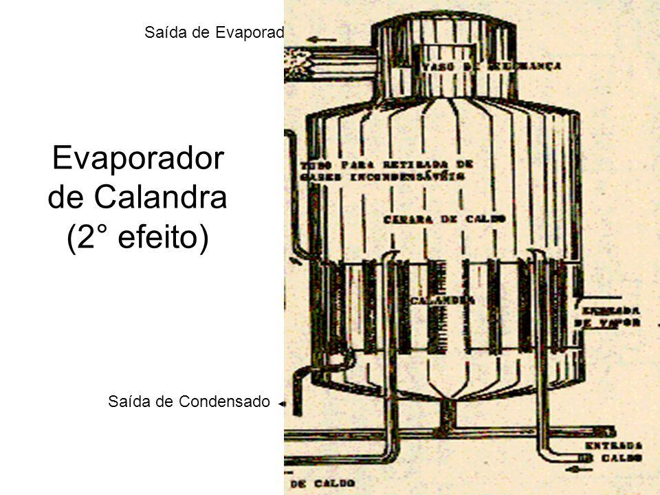Saída de Condensado Saída de Concentrado Saída de Evaporado Evaporador de Calandra (2° efeito)