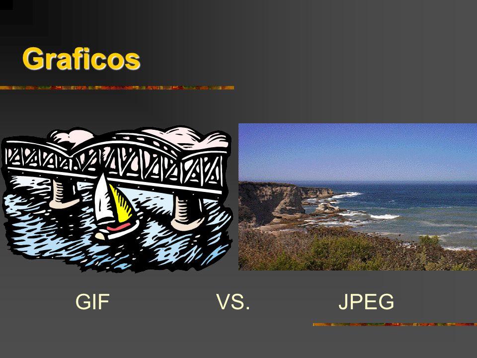 Graficos GIF VS. JPEG