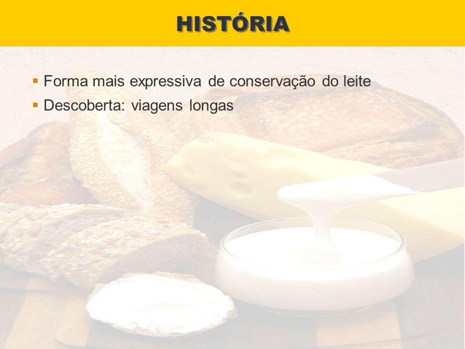 HISTÓRIA Forma mais expressiva de conservação do leite Descoberta: viagens longas