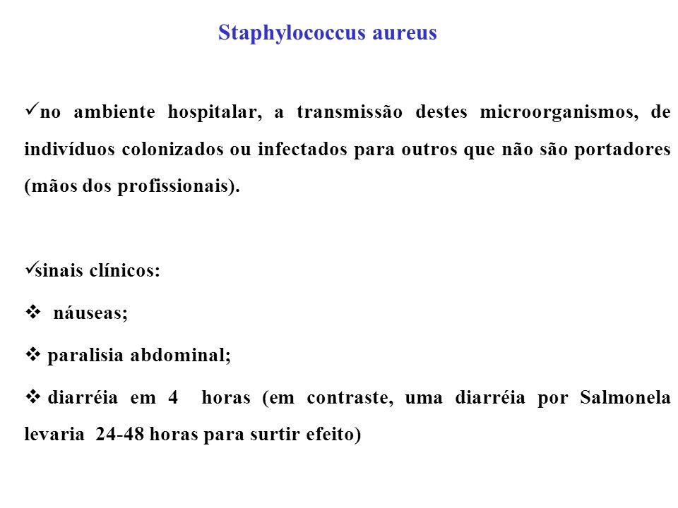 Staphylococcus aureus no ambiente hospitalar, a transmissão destes microorganismos, de indivíduos colonizados ou infectados para outros que não são po