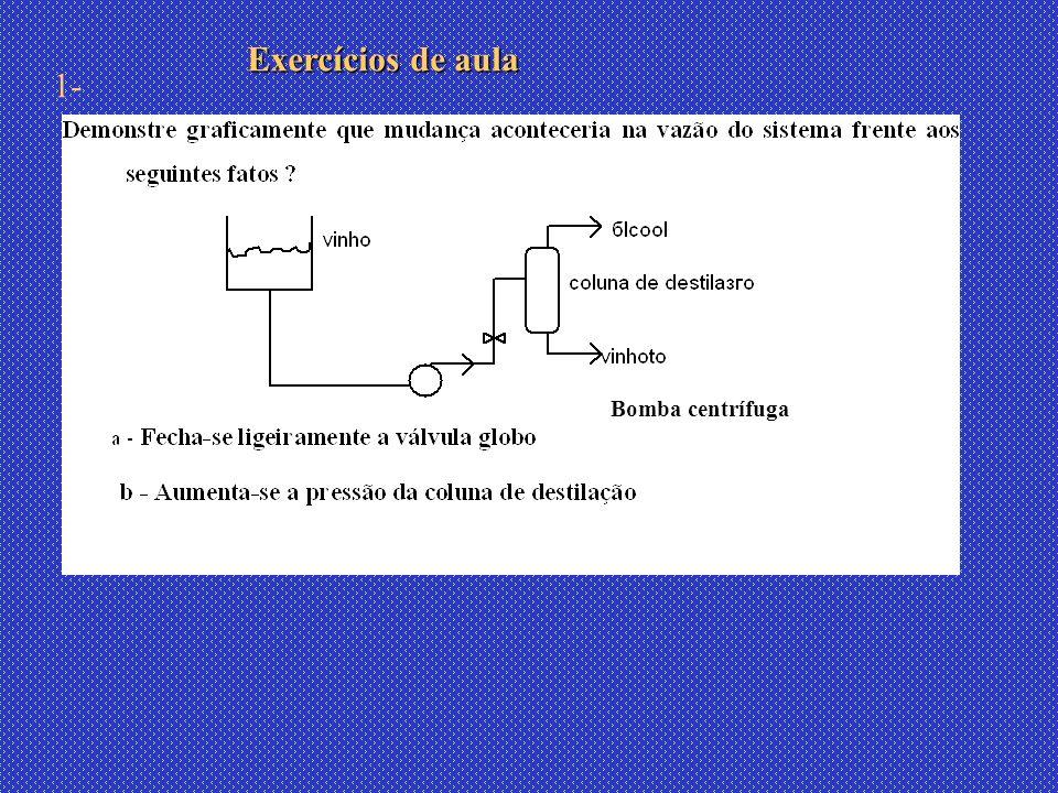 Bomba centrífuga Exercícios de aula 1-