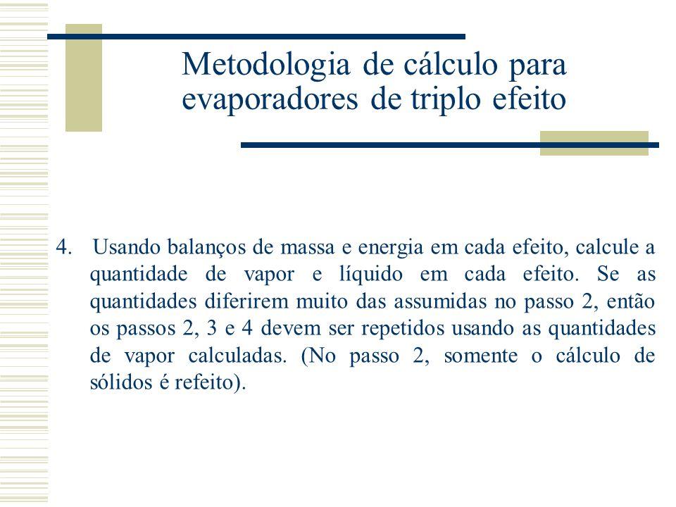 Metodologia de cálculo para evaporadores de triplo efeito 4.