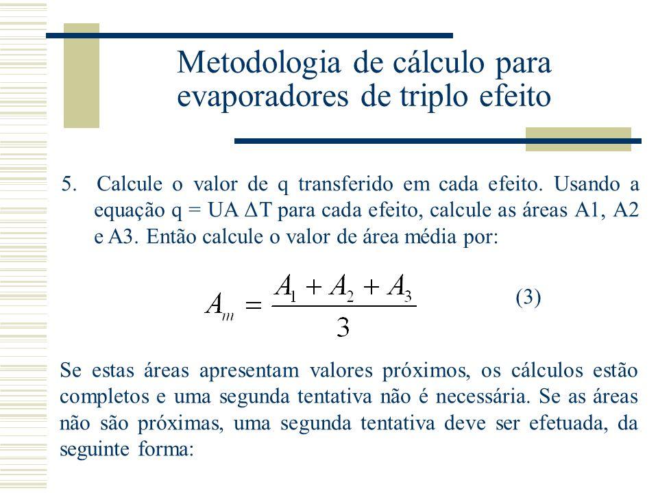 Metodologia de cálculo para evaporadores de triplo efeito 5.