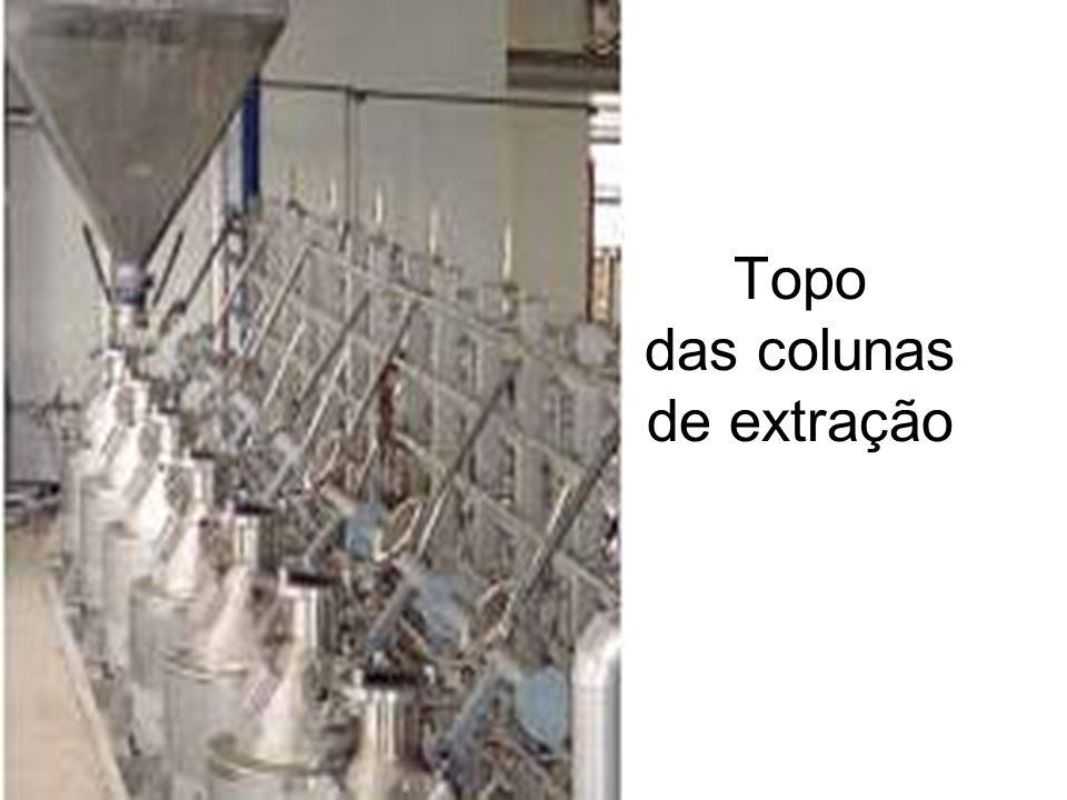 Topo das colunas de extração