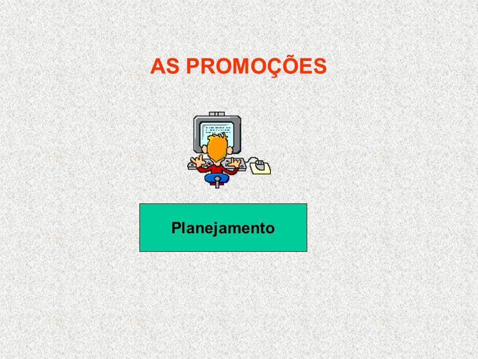AS PROMOÇÕES Planejamento