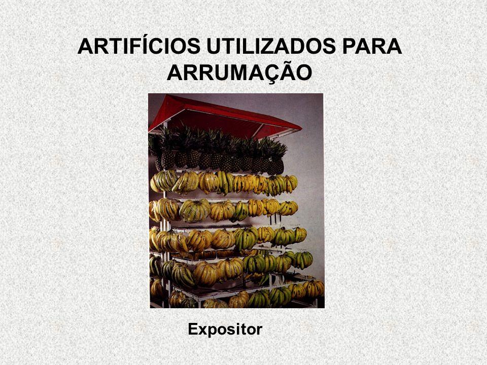 ARTIFÍCIOS UTILIZADOS PARA ARRUMAÇÃO Expositor