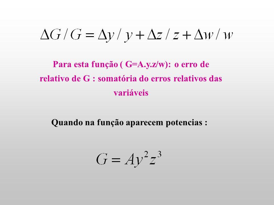 Função: Dividindo por G