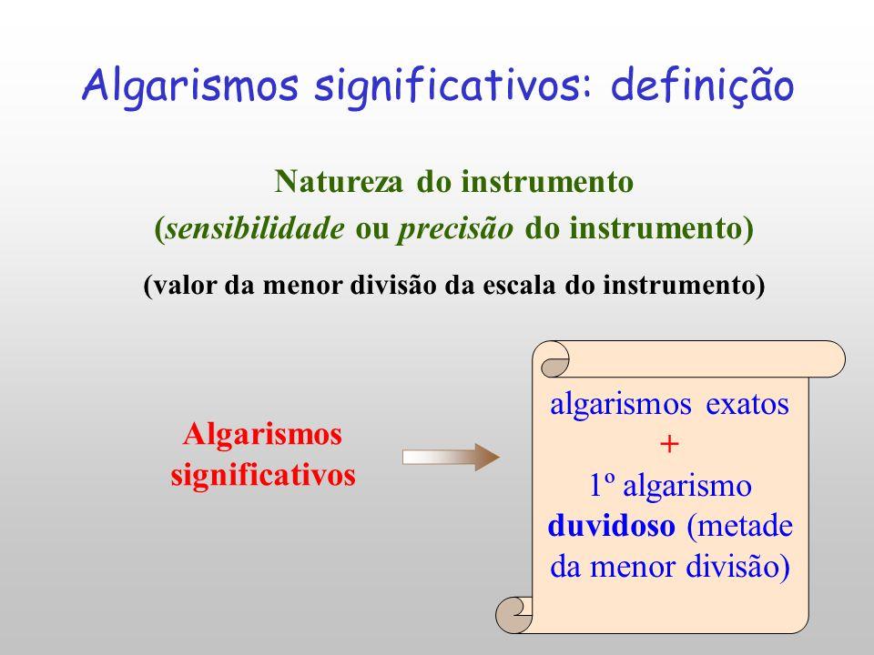 Incerteza Absoluta Algarismos Significativos O Cálculo da Incerteza Absoluta permite determinar o número de Algarismos Significativos da grandeza medi