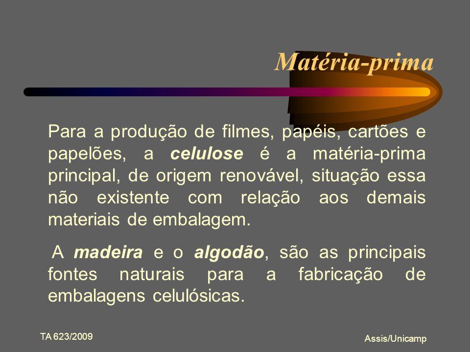 TA 623/2009 Assis/Unicamp Classificação quanto à resistência A classificação da fonte celulósica, baseia-se nas características da madeira bem como na composição estrutural das fibras.