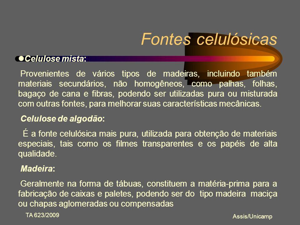 TA 623/2009 Assis/Unicamp Filmes Celulósicos Papéis Transparentes Celofane Acetato de celulose Etil celulose