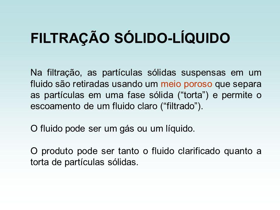 Na filtração, as partículas sólidas suspensas em um fluido são retiradas usando um meio poroso que separa as partículas em uma fase sólida (torta) e p