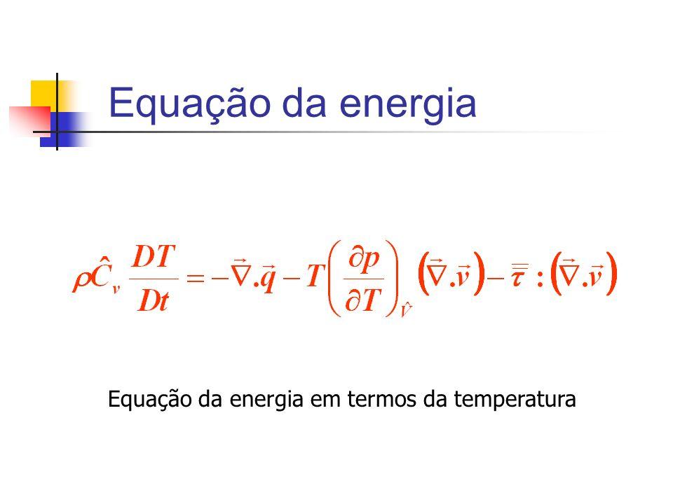 Equação da energia em termos da temperatura