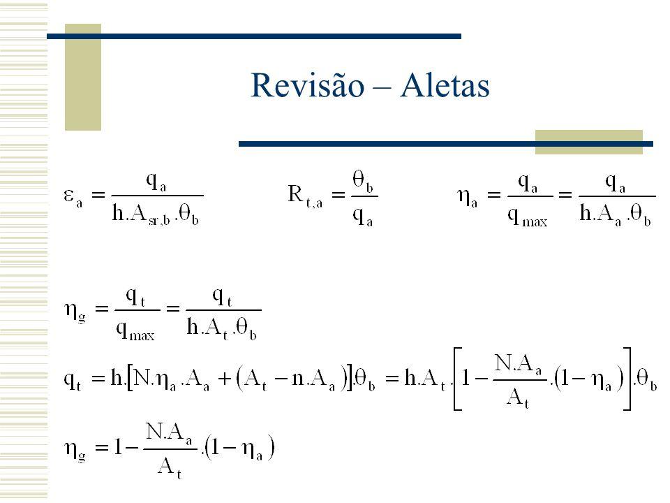 O Coeficiente Global de Transferência de Calor - Coeficiente global de transferência de calor com a inclusão dos efeitos relativos à incrustação e às aletas:
