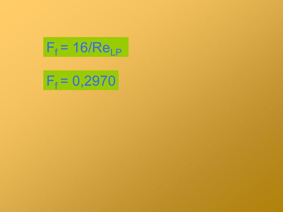 F f = 16/Re LP F f = 0,2970