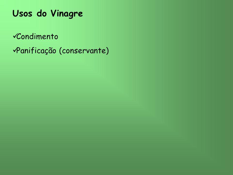 Usos do Vinagre Condimento Panificação (conservante)