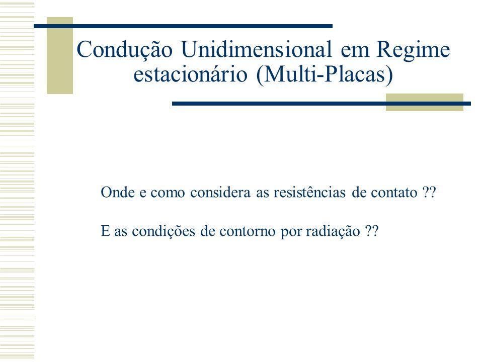 Onde e como considera as resistências de contato ?? E as condições de contorno por radiação ??