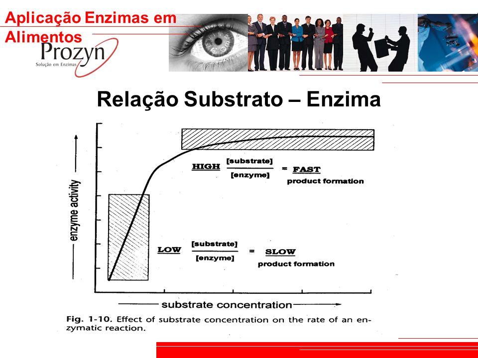 Aplicação Enzimas em Alimentos Relação Substrato – Enzima
