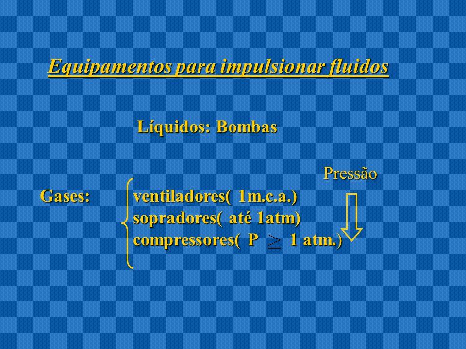 Trabalho da bomba- Capacidade da bomba Altura desenvolvida pela bomba = Trabalho fornecido pela bomba por unidade de peso de fluido que circula pelo sistema 1 2 Fazemos um balanço entre a sucção e a descarga da bomba Se inclui na eficiência
