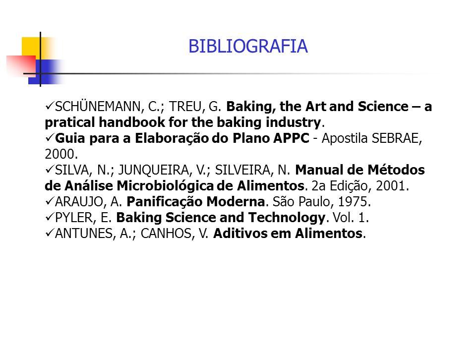 BIBLIOGRAFIA SCHÜNEMANN, C.; TREU, G. Baking, the Art and Science – a pratical handbook for the baking industry. Guia para a Elaboração do Plano APPC