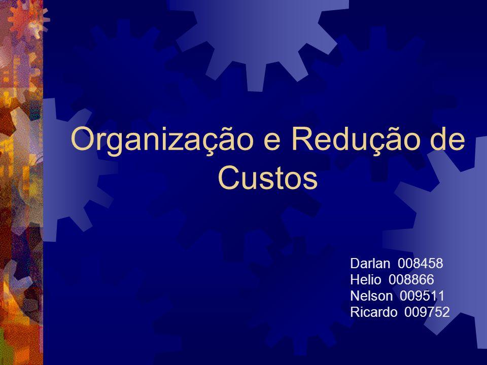 Organização e Redução de Custos Darlan 008458 Helio 008866 Nelson 009511 Ricardo 009752