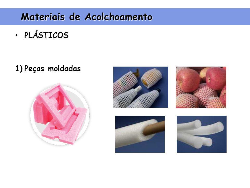 PLÁSTICOS 1)Peças moldadas Materiais de Acolchoamento