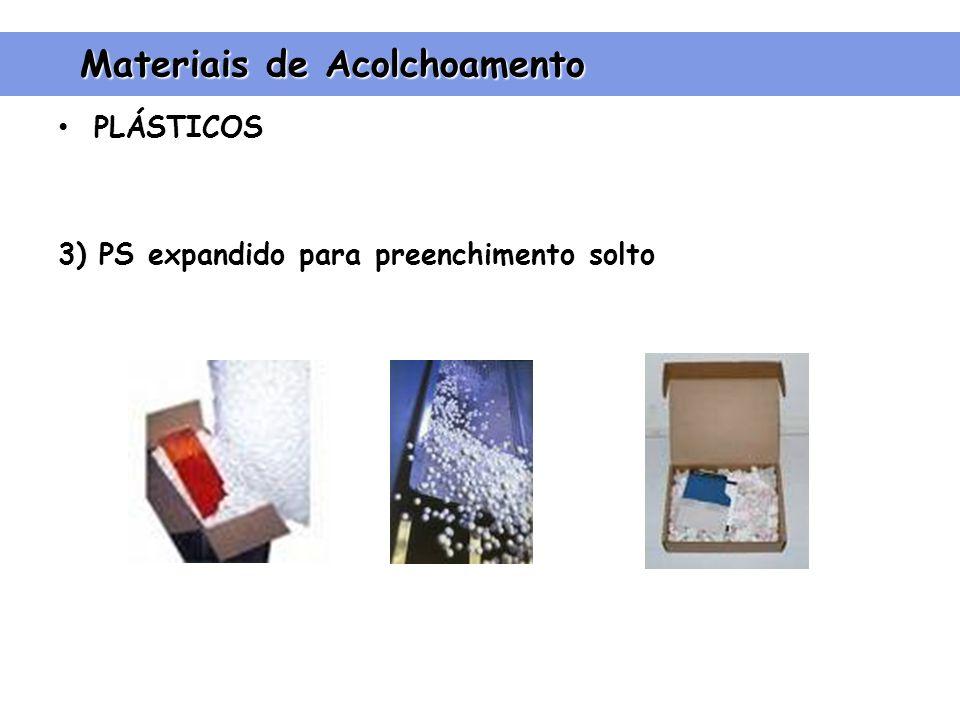 PLÁSTICOS 3) PS expandido para preenchimento solto Materiais de Acolchoamento