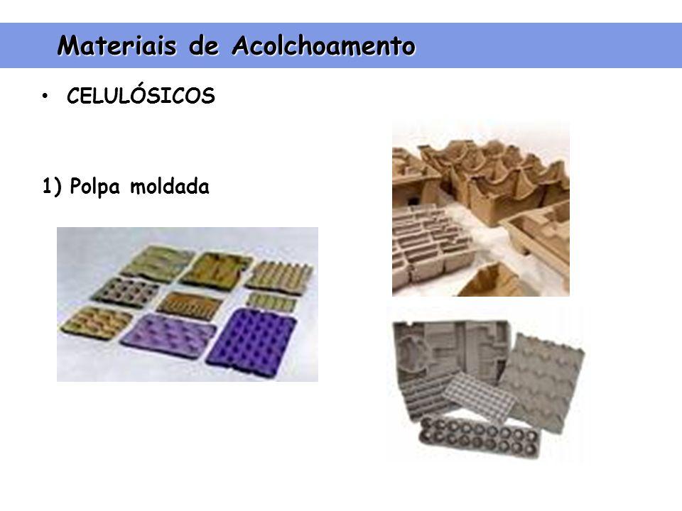 CELULÓSICOS 1) Polpa moldada Materiais de Acolchoamento